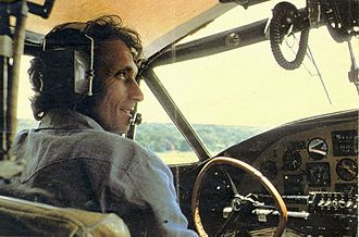 Philippe Cousteau - Philippe Cousteau piloting PBY, Lake Victoria, Uganda, July 1978