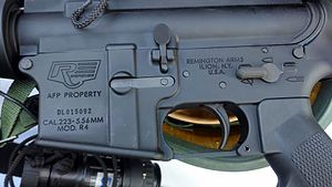 Remington GPC - Close-up Remington R4 rifle receiver