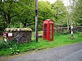 Phone box at Jura House Gardens car-park - geograph.org.uk - 1327722.jpg