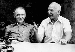 André Kertész - Kertész (right) and Robert Doisneau, at Arles, Southern France, in 1975