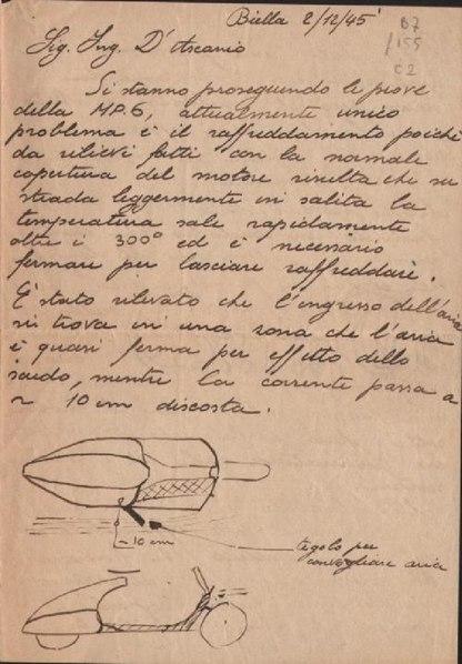File:Piaggio, lettera sul prototipo di Vespa MP3, Biella 1945 - san dl SAN TXT-00003405.pdf