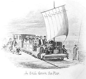 Herne Bay Pier - Neptune's Car on first pier, picture 1855