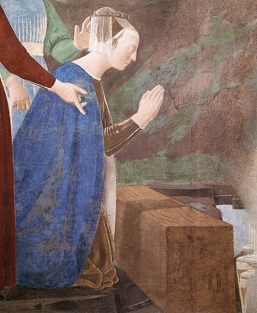 Piero della Francesca - 2a. Procession of the Queen of Sheba (detail) - WGA17490