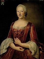 Portret van Johanna Magdalena de Mey (1719-1783)
