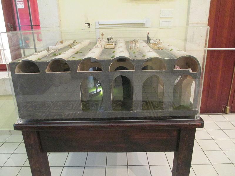 דגם בריכת הקשתות במוזיאון רמלה