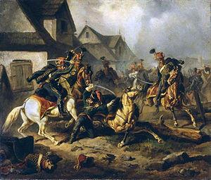 Berek Joselewicz - The Death of Berek Joselewicz, by Henryk Pillati