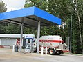 Pineapple Highway off I-65, Greenville, Alabama, 31 August 2021 - Chevron Station Tank Truck.jpg