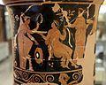 Pittore di dario, loutrophoros con sacerdotessa davanti altare di apollo, epigrafe KREOYSA (per la storia di ione), da tomba 1 di via bari (altamura), 330-320 ac ca. 08.jpg