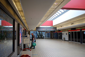 Pittsburgh International Airport People Movers - The Landside Terminal station of the People Mover system.