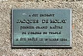 Photographie de la plaque