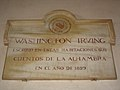 Placa en recuerdo a Washington Irving en la Alhambra.JPG