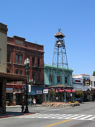 Lloyd Raffetto - Bell Tower in Placerville, California, where Raffetto lived lifelong