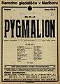 Plakat za predstavo Pygmalion v Narodnem gledališču v Mariboru 27. oktobra 1927.jpg