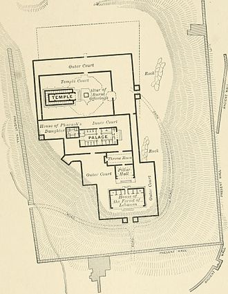 Solomon's Temple - Plan of Solomon's Temple, published 1905
