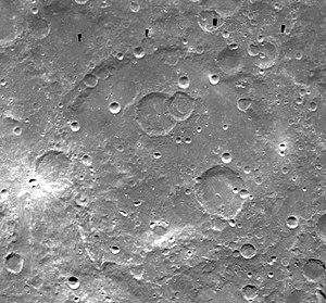 Planck (crater) - Image: Planck crater Clementine mosaic