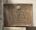 Plaque Sieur de Loynes, 84 rue Saint-Louis-en-l'Île, Paris 4.jpg