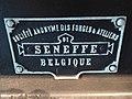 Plaque de constructeur Seneffe - Wagon couvert - Train World.jpg