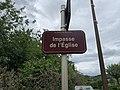 Plaque impasse Église St Genis Menthon 1.jpg