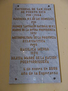 Plaque in Cathedral of San Juan Bautista.jpg