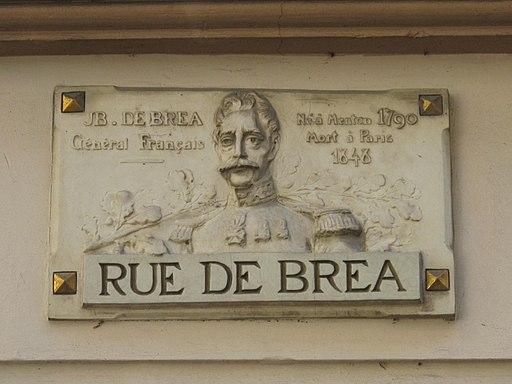 Plaque rue de Bréa
