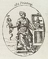 Plate illustrating a personification of 'Printing' Wellcome L0035401.jpg