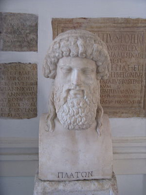 Bust of Plato at Capitoline Museum.