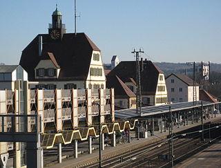 railway station in Plochingen, Germany