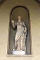 Poggio imperiale, facciata, loggia, torso di musa tipo melpomene mileto, con testa ideale forse di apollo, età tardo antonina.JPG