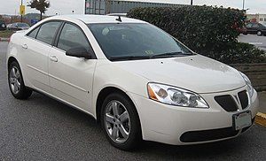 2006-2008 Pontiac G6 photographed in USA.