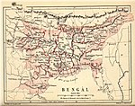 "Map of ""Bengal"" from Pope, G. U. (1880), Text-book of Indian History: Geographical Notes, Genealogical Tables, Examination Questions, London: W. H. Allen & Co. Pp. vii, 574, 16 maps."