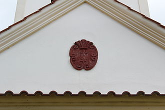 Knights of the Cross with the Red Star - Church of Saint James the Greater (Popovice).Coats of arms of the Knights of the Cross with the Red Star