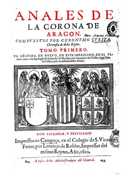 Batalla de Guadalete  Godos vs. Godos. 424px-Portada_de_los_Anales_de_la_Corona_de_Arag%C3%B3n