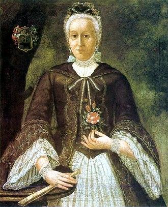 Ferenc Kazinczy - Portrait of Zsuzsanna Bossányi de Nagybossány (1740-1812), the mother of Ferenc Kazinczy