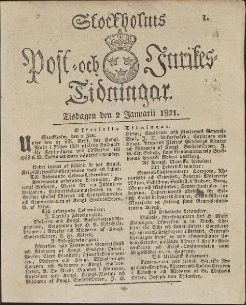 File:Post- och Inrikes Tidningar 1821-01-02.djvu