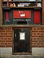 Postbox and old stamp vending machine, Baldock - geograph.org.uk - 2105671.jpg