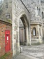 Postbox by the north gate at Windsor Castle - geograph.org.uk - 1168619.jpg
