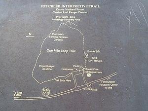 Pot Creek Cultural Site - Image: Pot Creek Trail Map