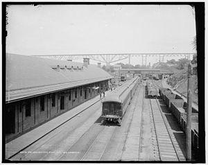 Poughkeepsie station - Poughkeepsie Station ca. 1890