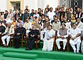 Pranab Mukherjee at the valedictory session of Platinum Jubilee Celebration of the West Bengal Legislative Assembly, in Kolkata. The Governor of West Bengal, Shri M.K. Narayanan, the Chief Minister of West Bengal.jpg