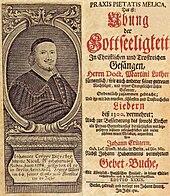 Das Berliner Gesangbuch Praxis Pietatis Melica von Johann Crüger, Titelblatt der 29.Auflage von 1721 (Quelle: Wikimedia)