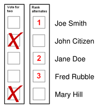 Preferential block voting wikipedia for Voting slips template
