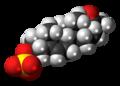 Pregnenolone sulfate anion spacefill.png