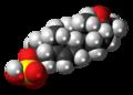 Pregnenolone sulfate molecule spacefill.png