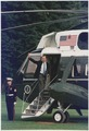 President Bush departs the South Lawn of the White House aboard Marine One - NARA - 186414.tif