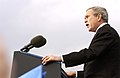 President George W. Bush addresses the audience during the farewell parade for Secretary of Defense Donald H. Rumsfeld at the Pentagon Dec 061215-F-VO565-003.jpg