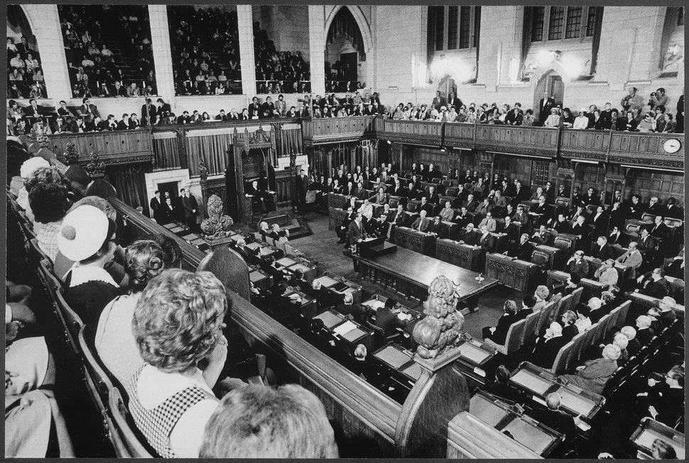 President Nixon Addresses a joint session of the Canadian Parliament, in Ottawa, Canada - NARA - 194761