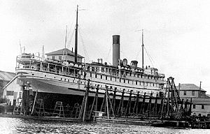 Princess Royal (steamship) on shipways.jpg