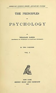 <i>The Principles of Psychology</i> 1890 book by Wm. James
