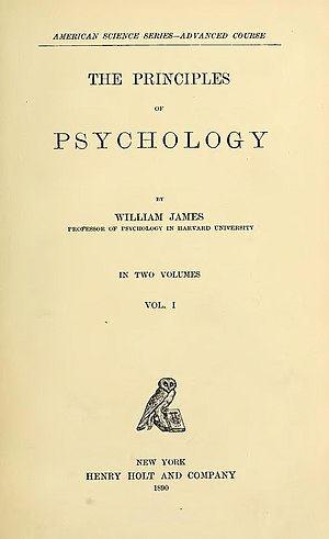 The Principles of Psychology - Title page from the first edition.
