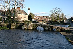 Launceston, Cornwall - Prior's Bridge over the River Kensey